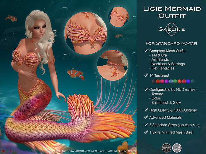 Ligie Mermaid Outfit