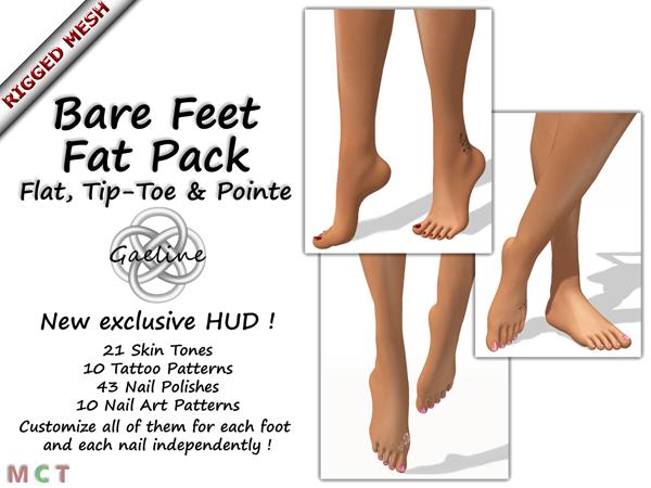 Mesh Bare Feet