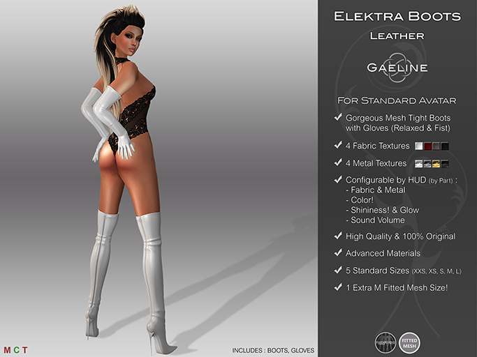 Elektra Tight Boots & Gloves
