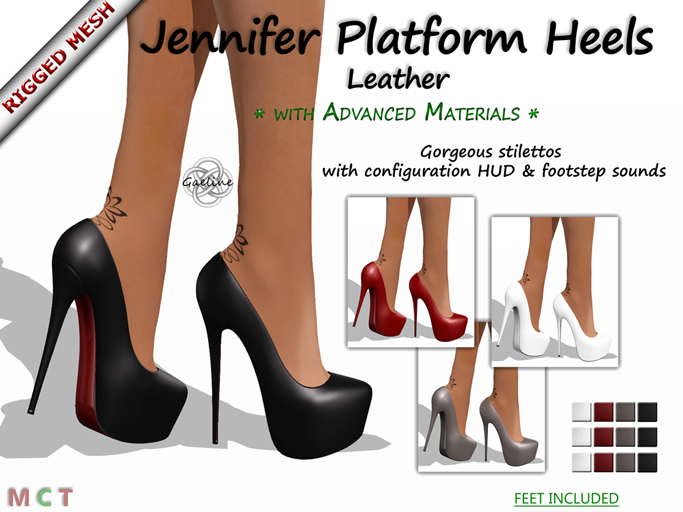Jennifer Platform Heels - Leather Edition