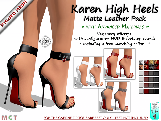 Karen High Heels - Matte Leather Edition