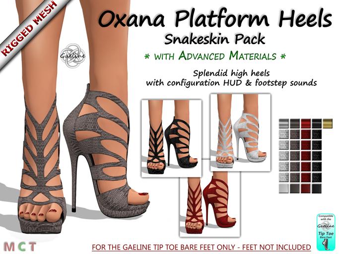 Oxana Platform Heels - Snakeskin Edition