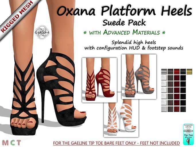 Oxana Platform Heels - Suede Edition