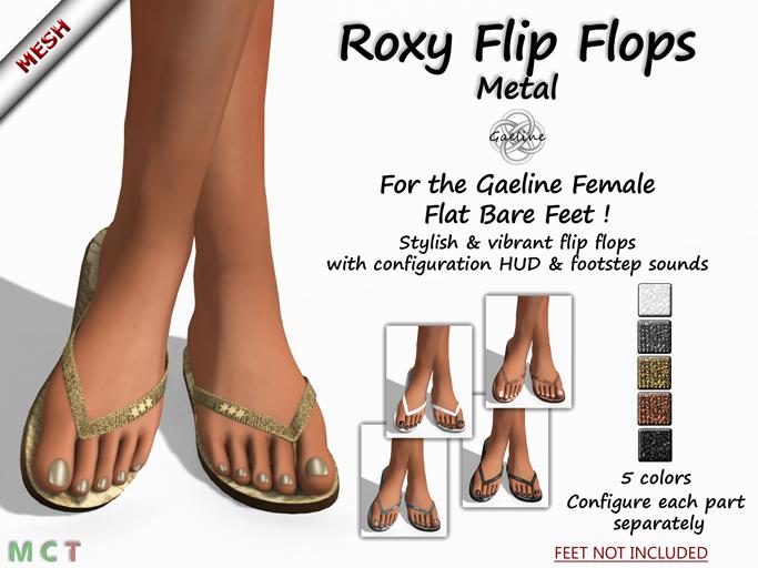 Roxy Flip Flops - Metal