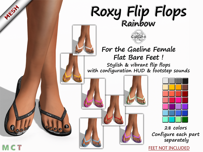 Roxy Flip Flops - Rainbow