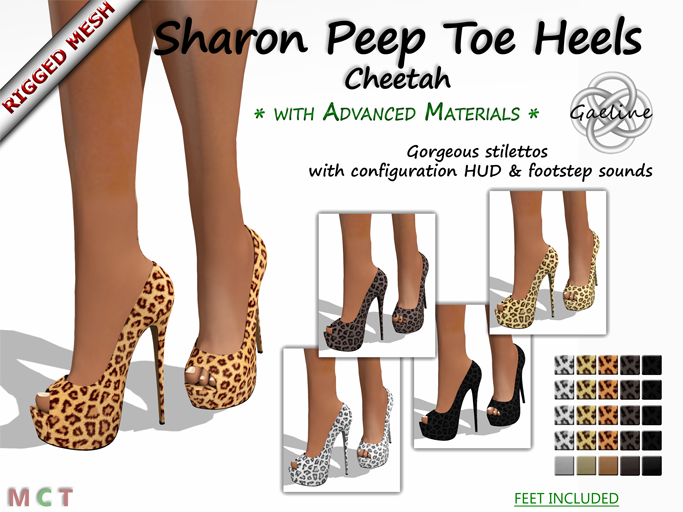 Sharon Peep Toe Heels - Cheetah Edition