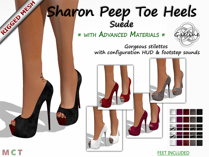 Sharon Peep Toe Heels - Suede Edition